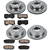 SureStop Front And Rear Replacement Brake Disc and Pad Kit - 4-Wheel Set, Incl. 13.94 in. Front/13.58 in. Rear