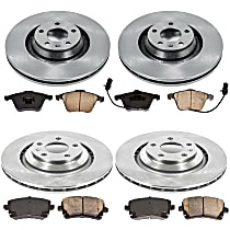 13OEREP40 SureStop OE Replacement Front And Rear Brake Disc and Pad Kit, 4-Wheel Set