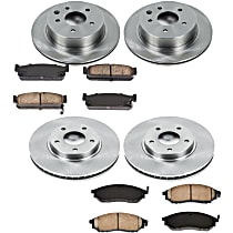 13OEREP43 SureStop OE Replacement Front And Rear Brake Disc and Pad Kit, 4-Wheel Set