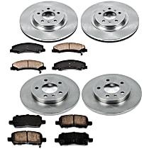 For 2014-2019 Chevrolet Impala Brake Pad Set Front Centric 23735FP 2015 2016