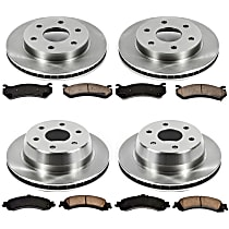 15OEREP20 SureStop OE Replacement Front And Rear Brake Disc and Pad Kit, 4-Wheel Set