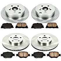 15OEREP23 SureStop OE Replacement Front And Rear Brake Disc and Pad Kit, 4-Wheel Set
