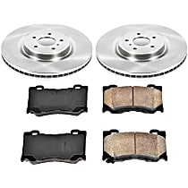 15OEREP29 SureStop OE Replacement Front Brake Disc and Pad Kit, 2-Wheel Set