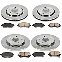 15OEREP40 SureStop OE Replacement Front And Rear Brake Disc and Pad Kit, 4-Wheel Set