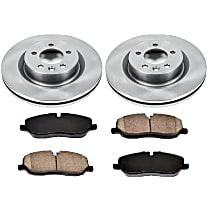 15OEREP46 SureStop OE Replacement Front Brake Disc and Pad Kit, 2-Wheel Set
