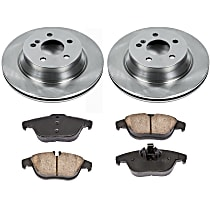 16OEREP16 SureStop OE Replacement Rear Brake Disc and Pad Kit, 2-Wheel Set