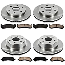 16OEREP20 SureStop OE Replacement Front And Rear Brake Disc and Pad Kit, 4-Wheel Set