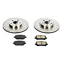 16OEREP23 SureStop OE Replacement Front Brake Disc and Pad Kit, 2-Wheel Set