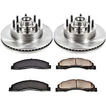 SureStop Front Replacement Brake Disc and Pad Kit - 2-Wheel Set, Models With Single Rear Wheels, Incl. 13.58 in. Rotors