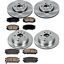 16OEREP55 SureStop OE Replacement Front And Rear Brake Disc and Pad Kit, 4-Wheel Set