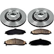 SureStop Front Replacement Brake Disc and Pad Kit - 2-Wheel Set, Naturally Aspirated Models With JL9 Brake Package, With 325mm (12.8 in.) Front Rotors, Incl. 12.8 in. Rotors
