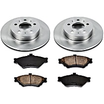 17OEREP29 SureStop OE Replacement Front Brake Disc and Pad Kit, 2-Wheel Set