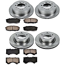 17OEREP41 SureStop OE Replacement Front And Rear Brake Disc and Pad Kit, 4-Wheel Set