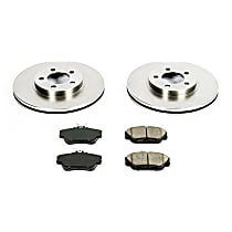 18OEREP13 SureStop OE Replacement Front Brake Disc and Pad Kit, 2-Wheel Set