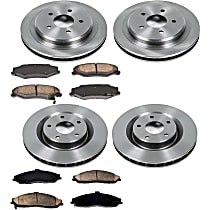 SureStop Front And Rear Replacement Brake Disc and Pad Kit - 4-Wheel Set, Models With Standard Brakes, With JL9 Package,  With 325mm (12.8 in.) Front Rotor