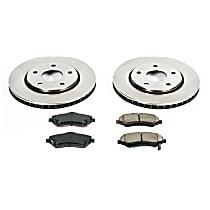 18OEREP46 SureStop OE Replacement Rear Brake Disc and Pad Kit, 2-Wheel Set