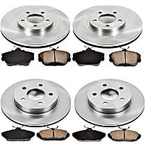 19OEREP13 SureStop OE Replacement Front And Rear Brake Disc and Pad Kit, 4-Wheel Set