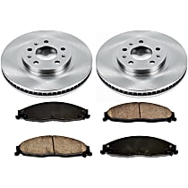 19OEREP14 SureStop OE Replacement Front Brake Disc and Pad Kit, 2-Wheel Set