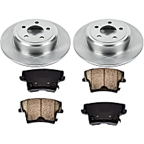 Rear Brake Disc and Pad Kit, 2-Wheel Set