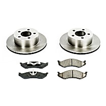 19OEREP21 SureStop OE Replacement Front Brake Disc and Pad Kit, 2-Wheel Set