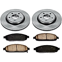 19OEREP22 SureStop OE Replacement Front Brake Disc and Pad Kit, 2-Wheel Set