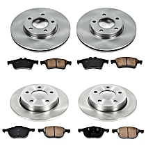 1OEREP12 SureStop OE Replacement Front And Rear Brake Disc and Pad Kit, 4-Wheel Set