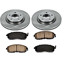1OEREP24 SureStop OE Replacement Front Brake Disc and Pad Kit, 2-Wheel Set