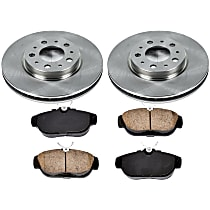 1OEREP57 SureStop OE Replacement Front Brake Disc and Pad Kit, 2-Wheel Set