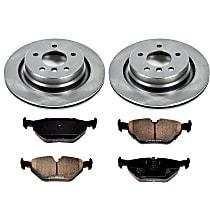 1OEREP58 SureStop OE Replacement Rear Brake Disc and Pad Kit, 2-Wheel Set