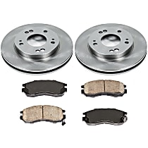 1OEREP68 SureStop OE Replacement Front Brake Disc and Pad Kit, 2-Wheel Set