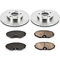 1OEREP73 SureStop OE Replacement Front Brake Disc and Pad Kit, 2-Wheel Set