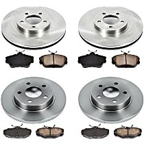 20OEREP13 SureStop OE Replacement Front And Rear Brake Disc and Pad Kit, 4-Wheel Set