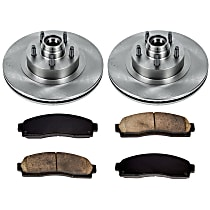 SureStop Front Replacement Brake Disc and Pad Kit - 2-Wheel Set, RWD Models, Incl. 12.01 in. Replacement Rotors