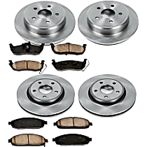 20OEREP22 SureStop OE Replacement Front And Rear Brake Disc and Pad Kit, 4-Wheel Set