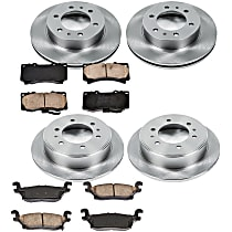 20OEREP28 SureStop OE Replacement Front And Rear Brake Disc and Pad Kit, 4-Wheel Set