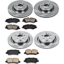 20OEREP67 SureStop OE Replacement Front And Rear Brake Disc and Pad Kit, 4-Wheel Set