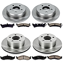 21OEREP21 SureStop OE Replacement Front And Rear Brake Disc and Pad Kit, 4-Wheel Set