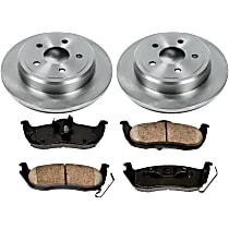 21OEREP22 SureStop OE Replacement Rear Brake Disc and Pad Kit, 2-Wheel Set