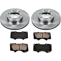 21OEREP24 SureStop OE Replacement Front Brake Disc and Pad Kit, 2-Wheel Set
