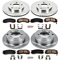 21OEREP42 SureStop OE Replacement Front And Rear Brake Disc and Pad Kit, 4-Wheel Set