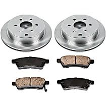 21OEREP46 SureStop OE Replacement Rear Brake Disc and Pad Kit, 2-Wheel Set