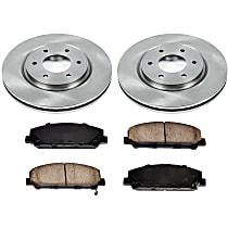 21OEREP58 SureStop OE Replacement Front Brake Disc and Pad Kit, 2-Wheel Set