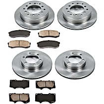 22OEREP24 SureStop OE Replacement Front And Rear Brake Disc and Pad Kit, 4-Wheel Set