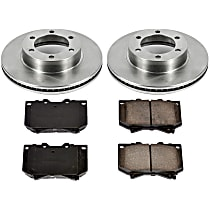 SureStop Front Replacement Brake Disc and Pad Kit - 2-Wheel Set, Models With Front Caliper Casting # S13WE, Incl. 12.55 in. Rotors