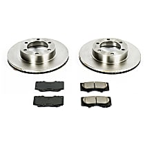 SureStop Front Replacement Brake Disc and Pad Kit - 2-Wheel Set
