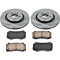 24OEREP29 SureStop OE Replacement Front Brake Disc and Pad Kit, 2-Wheel Set
