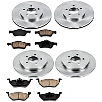 24OEREP40 SureStop OE Replacement Front And Rear Brake Disc and Pad Kit, 4-Wheel Set