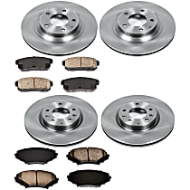 25OEREP27 SureStop OE Replacement Front And Rear Brake Disc and Pad Kit, 4-Wheel Set