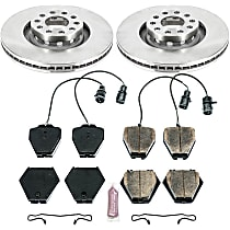 26OEREP52 SureStop OE Replacement Front Brake Disc and Pad Kit, 2-Wheel Set
