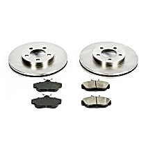 SureStop Front Replacement Brake Disc and Pad Kit - 2-Wheel Set, Incl. 10.87 in. Replacement Rotors
